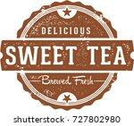 delicious sweet tea vintage... | Shutterstock .eps vector #727802980