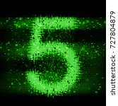 number 5 in technology led... | Shutterstock . vector #727804879