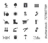 garden icons. vector garden... | Shutterstock .eps vector #727807789