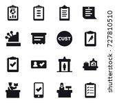 16 vector icon set   report ... | Shutterstock .eps vector #727810510