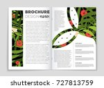 abstract vector layout... | Shutterstock .eps vector #727813759