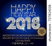 vector brilliant happy new year ...   Shutterstock .eps vector #727814038