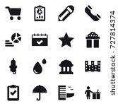 16 vector icon set   cart ... | Shutterstock .eps vector #727814374