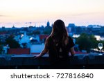 female silhouette looking out... | Shutterstock . vector #727816840