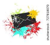 postal envelope on white... | Shutterstock .eps vector #727818070