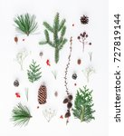 christmas composition. pattern... | Shutterstock . vector #727819144