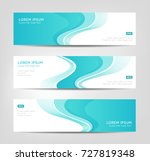 three elegant banners with... | Shutterstock .eps vector #727819348