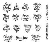 hand drawn romantic lettering... | Shutterstock .eps vector #727820506
