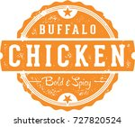 buffalo chicken restaurant menu ... | Shutterstock .eps vector #727820524