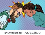 man vs woman  confrontation and ... | Shutterstock .eps vector #727822570