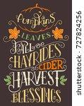 pumpkins leaves fall hay rides... | Shutterstock .eps vector #727824256