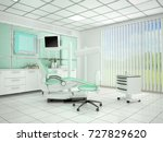 room with equipment in the... | Shutterstock . vector #727829620