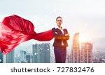 young confident businesswoman... | Shutterstock . vector #727832476