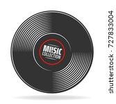 gramophone vinyl record with... | Shutterstock .eps vector #727833004