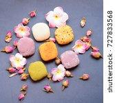 japanese mochi    Shutterstock . vector #727833568