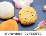 japanese mochi    Shutterstock . vector #727833580