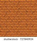 seamless texture. weaving rattan | Shutterstock .eps vector #727840924