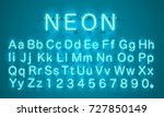 neon city color lime blue font. ... | Shutterstock .eps vector #727850149