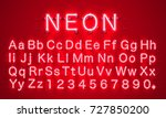 neon city color red font.... | Shutterstock .eps vector #727850200