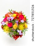weding bouquet made of colorful ... | Shutterstock . vector #727851526