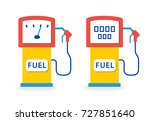gas station fuel pump flat... | Shutterstock .eps vector #727851640