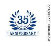 35 years anniversary logo... | Shutterstock .eps vector #727857670