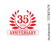 35 years anniversary logo...   Shutterstock .eps vector #727857679