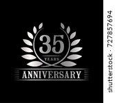 35 years anniversary logo... | Shutterstock .eps vector #727857694