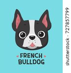 icon dog breed french bulldog. | Shutterstock .eps vector #727857799