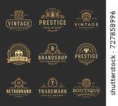 luxury monograms logos...   Shutterstock .eps vector #727858996