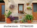 beautiful view of old house... | Shutterstock . vector #727860100