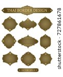 set of vector thai border... | Shutterstock .eps vector #727861678