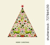 abstract decorated christmas...   Shutterstock .eps vector #727864150