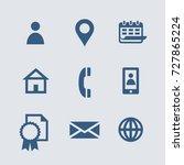 vector personal information... | Shutterstock .eps vector #727865224