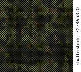 seamless digital pixel military ... | Shutterstock .eps vector #727865350