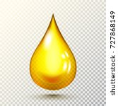 vector drop of golden oil with... | Shutterstock .eps vector #727868149