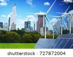 green city of the future... | Shutterstock . vector #727872004