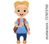 schoolchild cute cartoon... | Shutterstock .eps vector #727872700