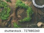preparing for christmas or new... | Shutterstock . vector #727880260