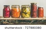autumn seasonal pickled or... | Shutterstock . vector #727880380
