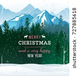 christmas and new year... | Shutterstock .eps vector #727885618