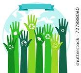 save world ecology... | Shutterstock .eps vector #727888060