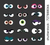 eyes set vector illustration.... | Shutterstock .eps vector #727888066