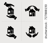 save house icons. houses in... | Shutterstock .eps vector #727888150