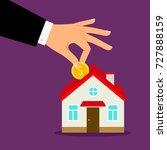 piggy bank house concept. house ...   Shutterstock .eps vector #727888159