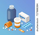 pharmacy concept. modern 3d... | Shutterstock .eps vector #727888384