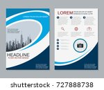 modern business two sided flyer ... | Shutterstock .eps vector #727888738