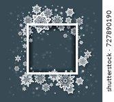 christmas festive snowflakes... | Shutterstock .eps vector #727890190
