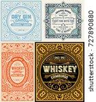 set of old labels | Shutterstock .eps vector #727890880