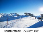panorama of the austrian ski... | Shutterstock . vector #727894159